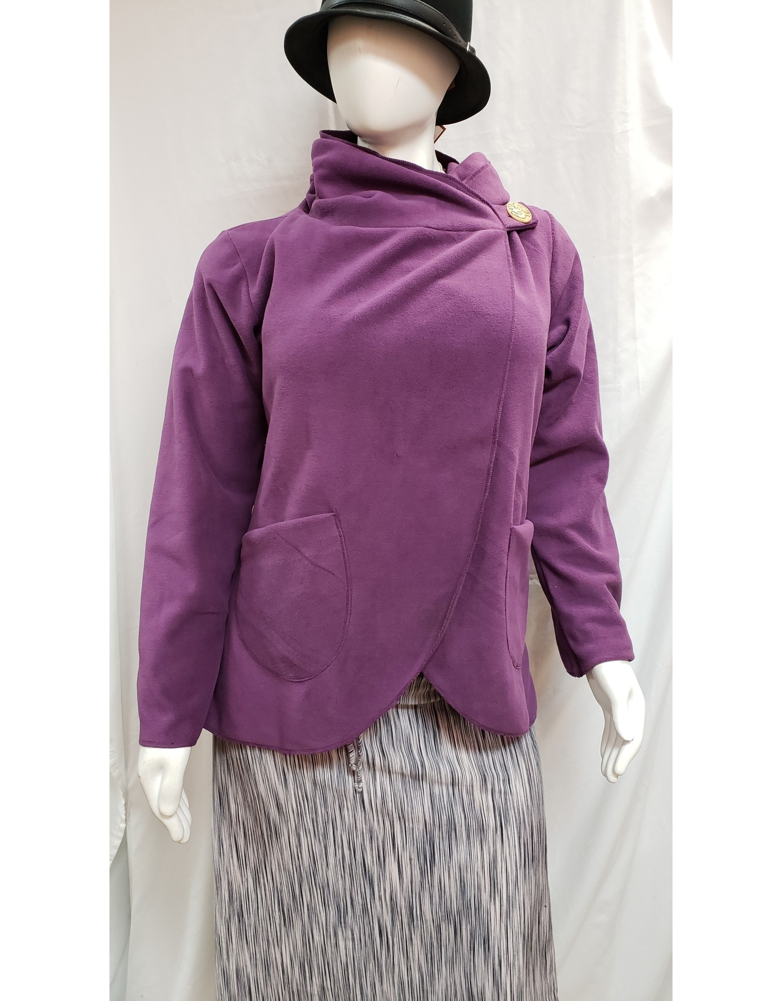 Country Fleece Jacket - Plum - Large