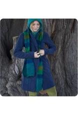 Fleece Trench Coat - Blue , Small