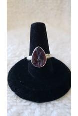 Garnet Sterling Silver Ring - Size 6