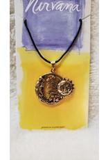 Bronze Sun, Moon & Stars Necklace