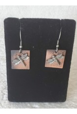 Dragonfly Pewter Earrings