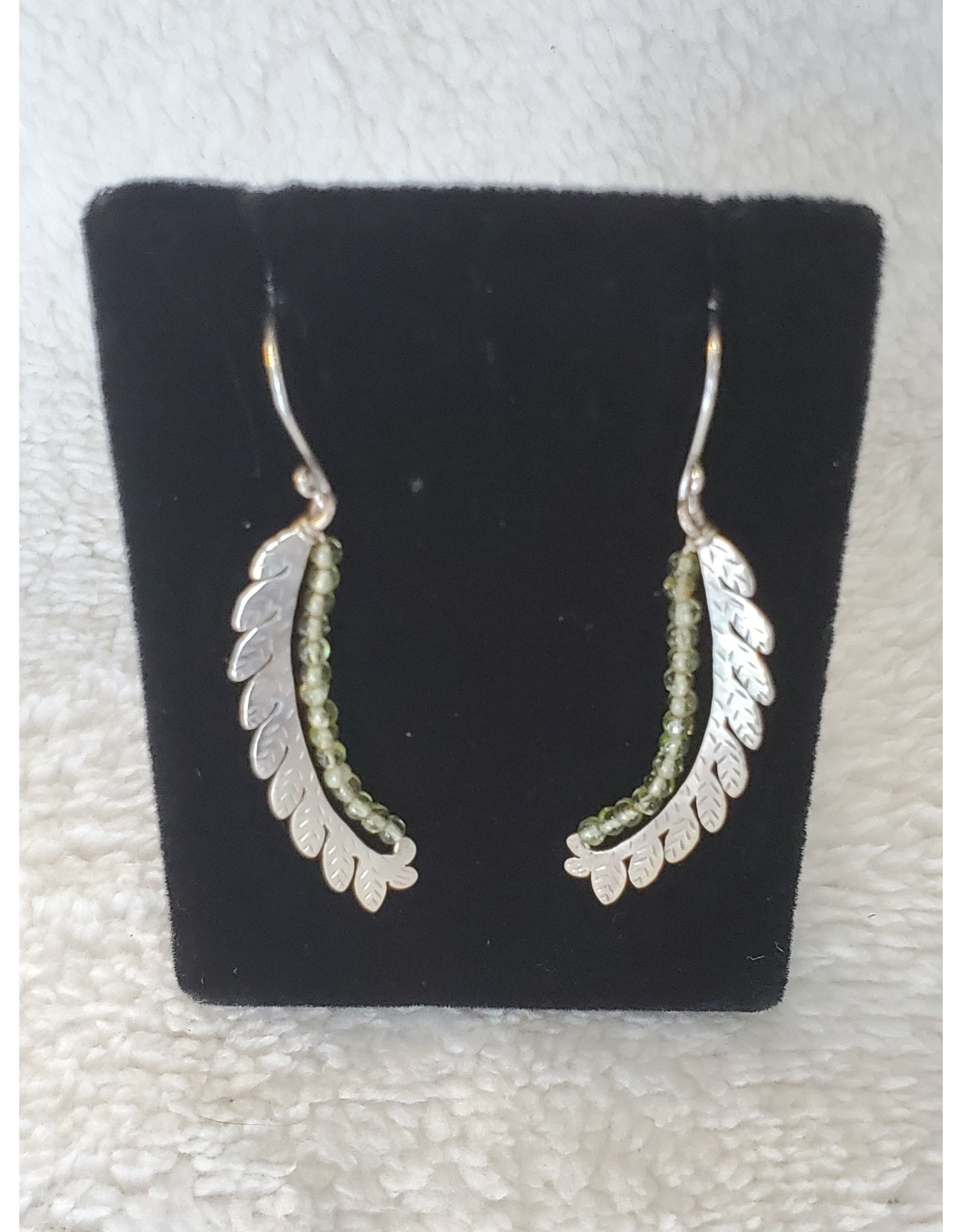Feather Stone Earrings