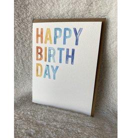 Bold Happy Birthday Card