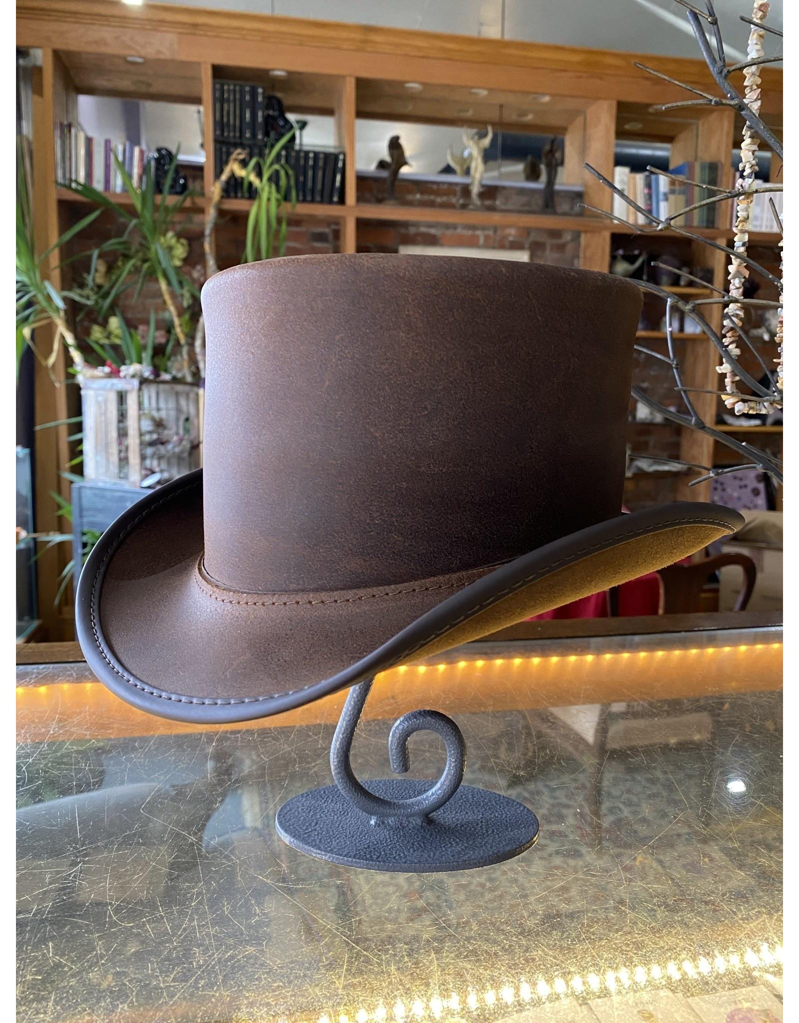 Kilo - Leather - Brown Top Hat - LG