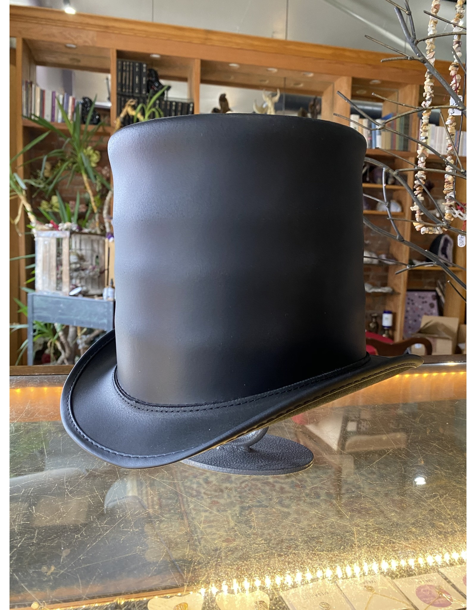 Black Stove Piper Hat , Unbanded - XL