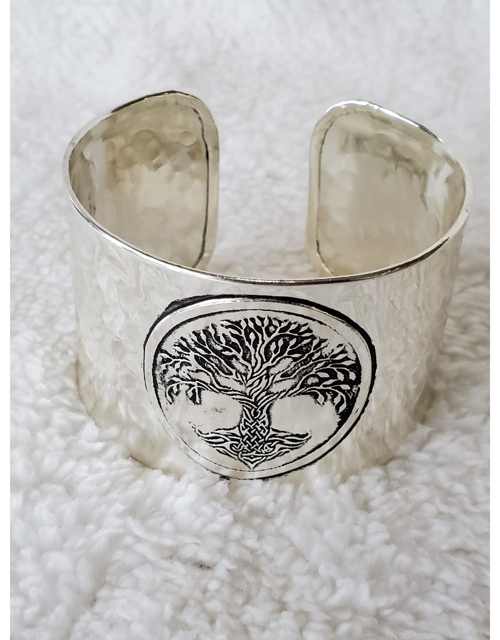 Silver Plated Cuff - Tree of Life