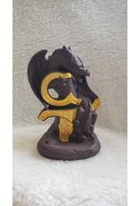 Terracotta Backflow Incense Burner - Dragon on Golden Sword