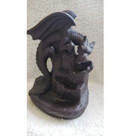 Ceramic Backflow Incense Burner - Dragon on Castle