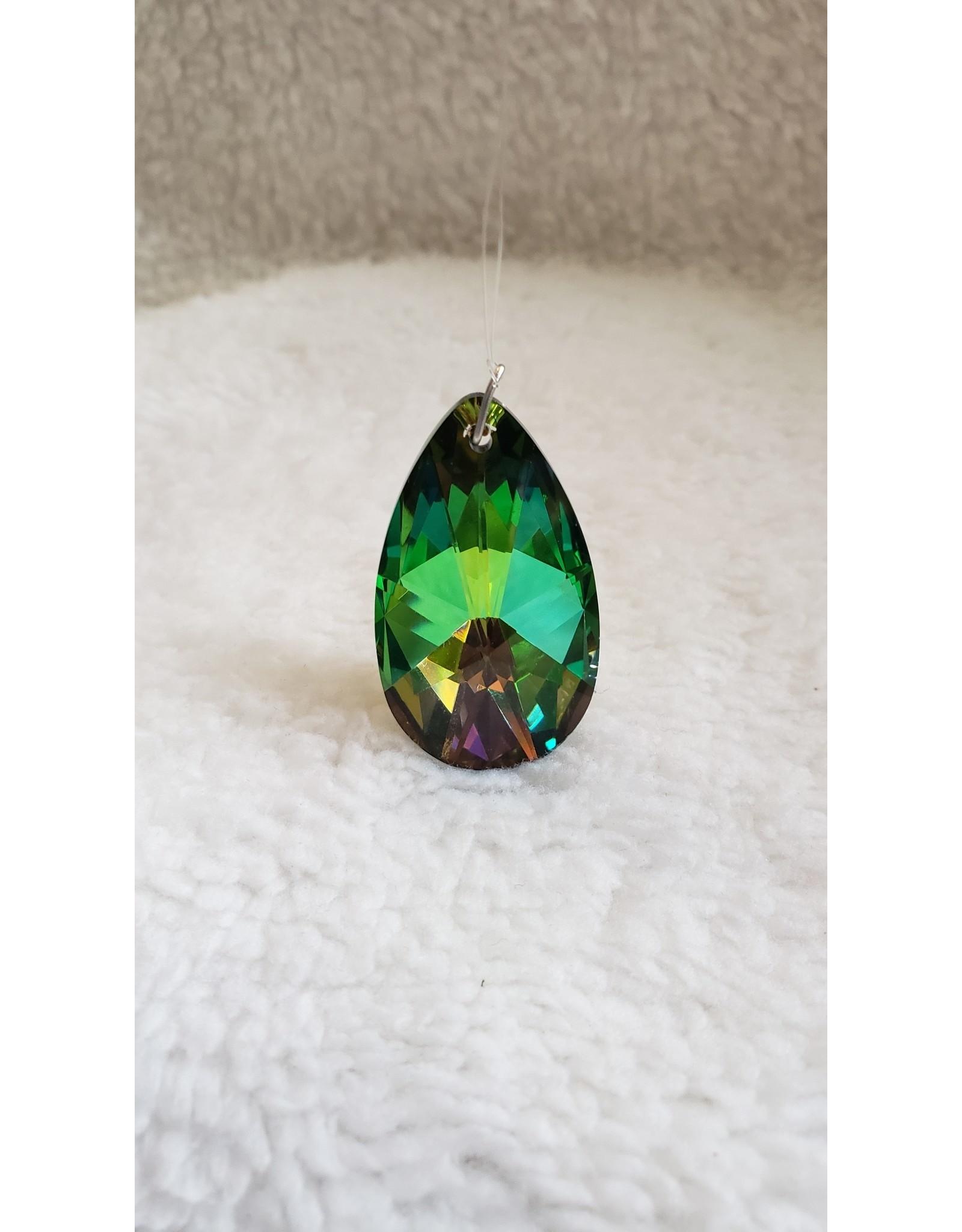Prism Crystal - Black Rainbow Almond 38mm