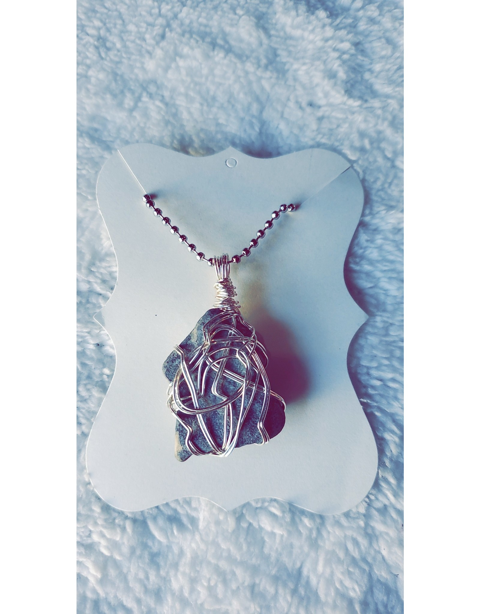 Angel Vaughan Protective Stone Wire Wrapped Necklace