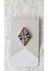 Rainbow Eye Enamel Pin