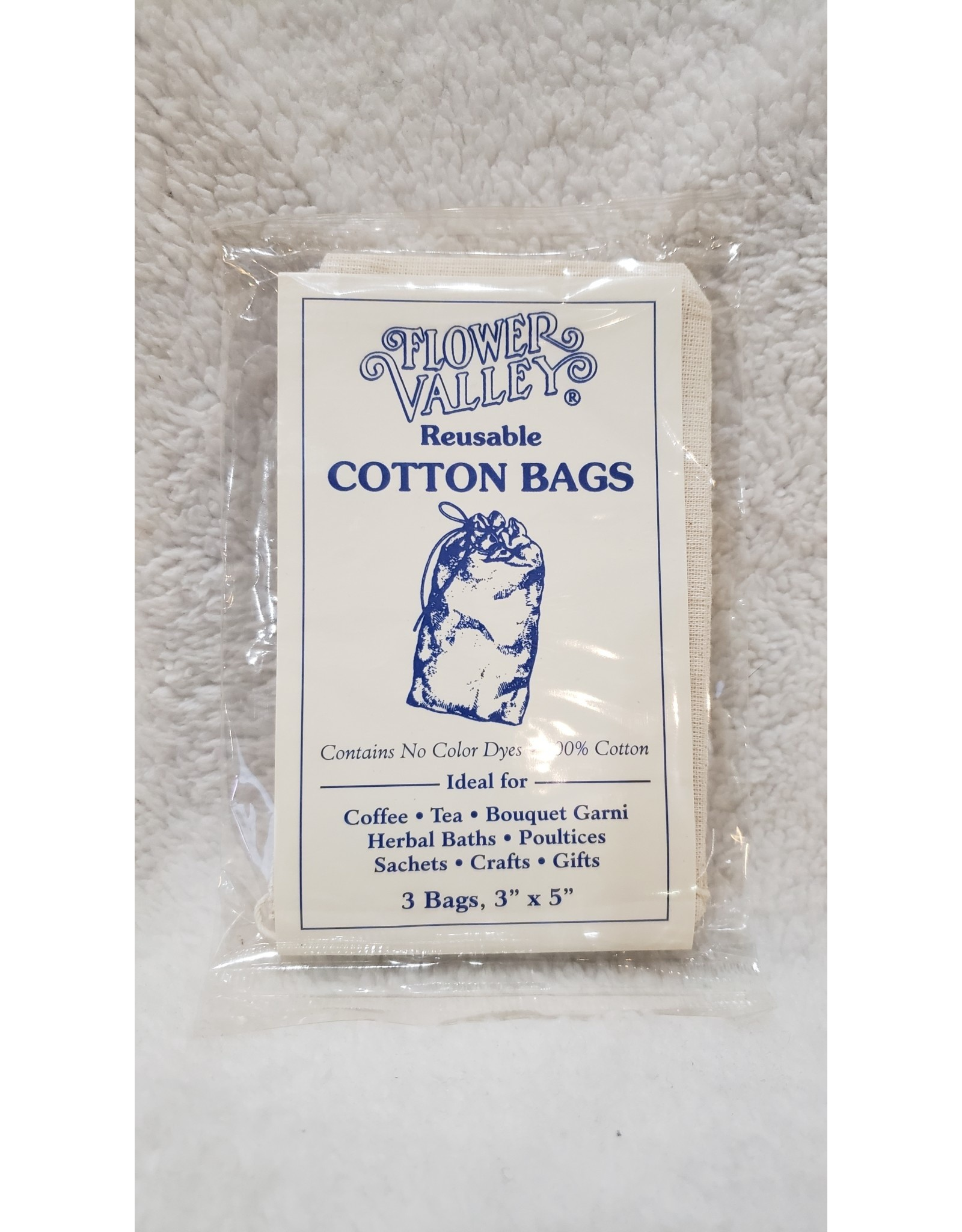 "3"" x 5"" | Reusable Cotton Bags - 3 ct."
