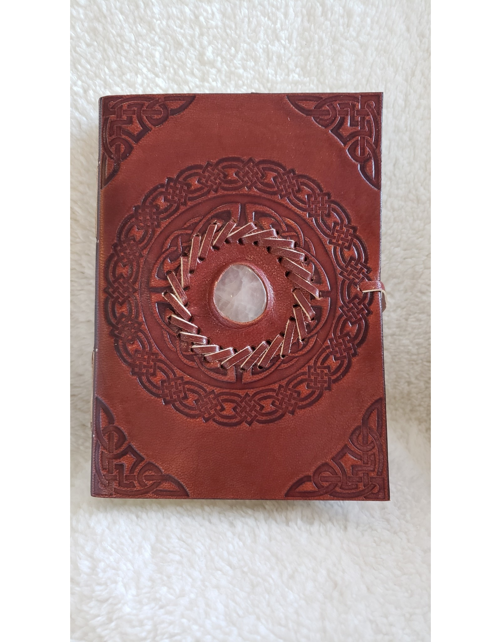 leather Journal W/ Assorted Stone