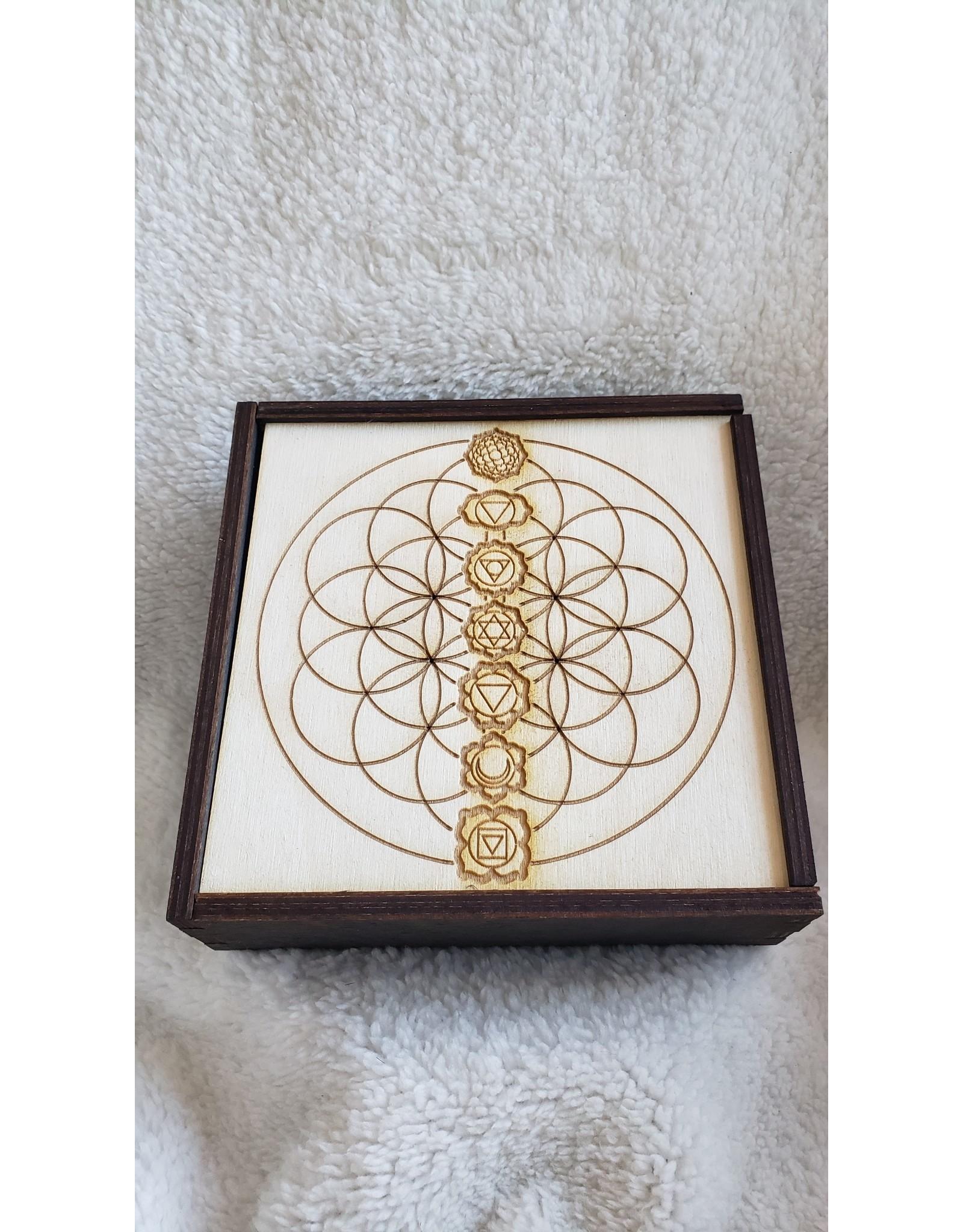 "Chakra Crystal Grid Box | 6"" x 6"""