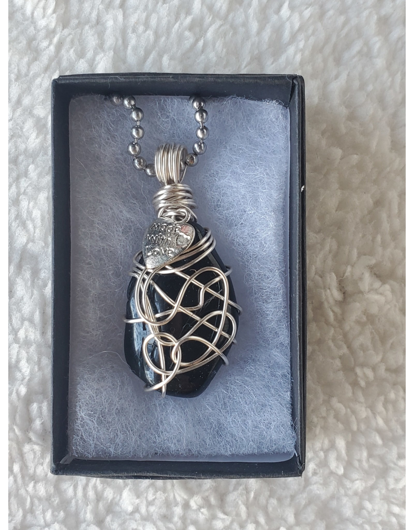 Angel Vaughan Protective Tourmaline Made with Love Necklace