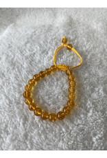 8mm Threaded Bracelet - Citrine