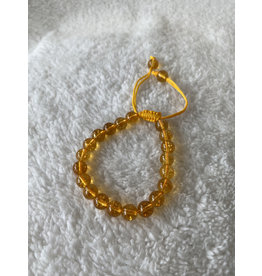 8mm Threaded Bracelet - Citrine