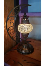 Turkish Mosaic Lamp | Moon | Assorted Colors