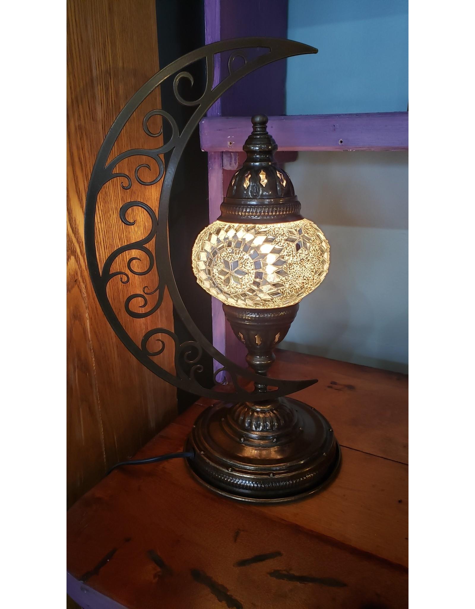 Mosaic Moon Table Lamp