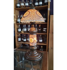 Double Shade Mosaic Table Lamp