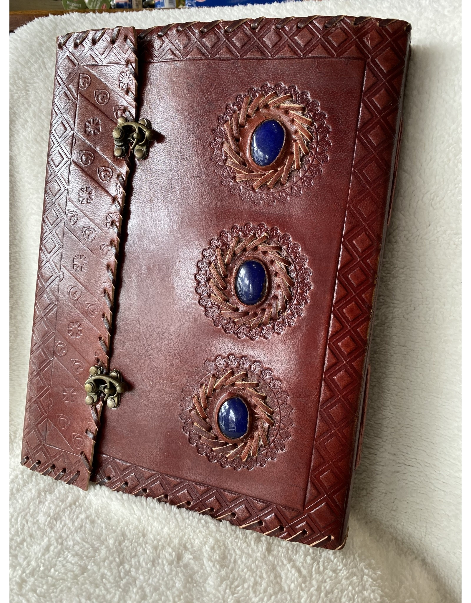 Large Leather Journal w/ Crystals