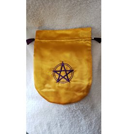 Satin Bag | Pentagram | Gold