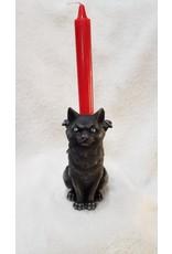 Cat Gargoyle Candle Holder
