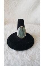 Large Labradorite Sterling Ring | Size 7