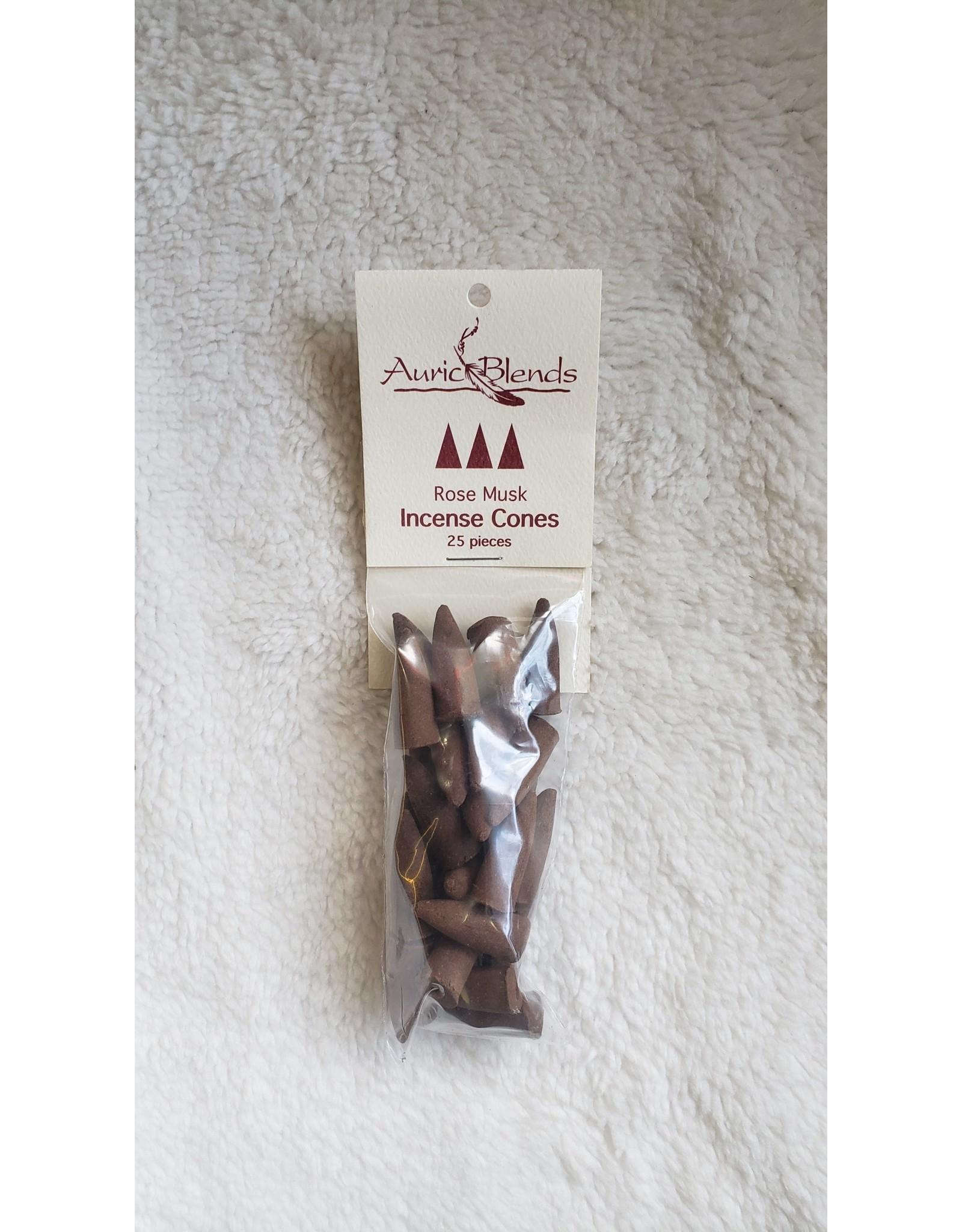 Rose Musk Incense Cones - 25 pc.