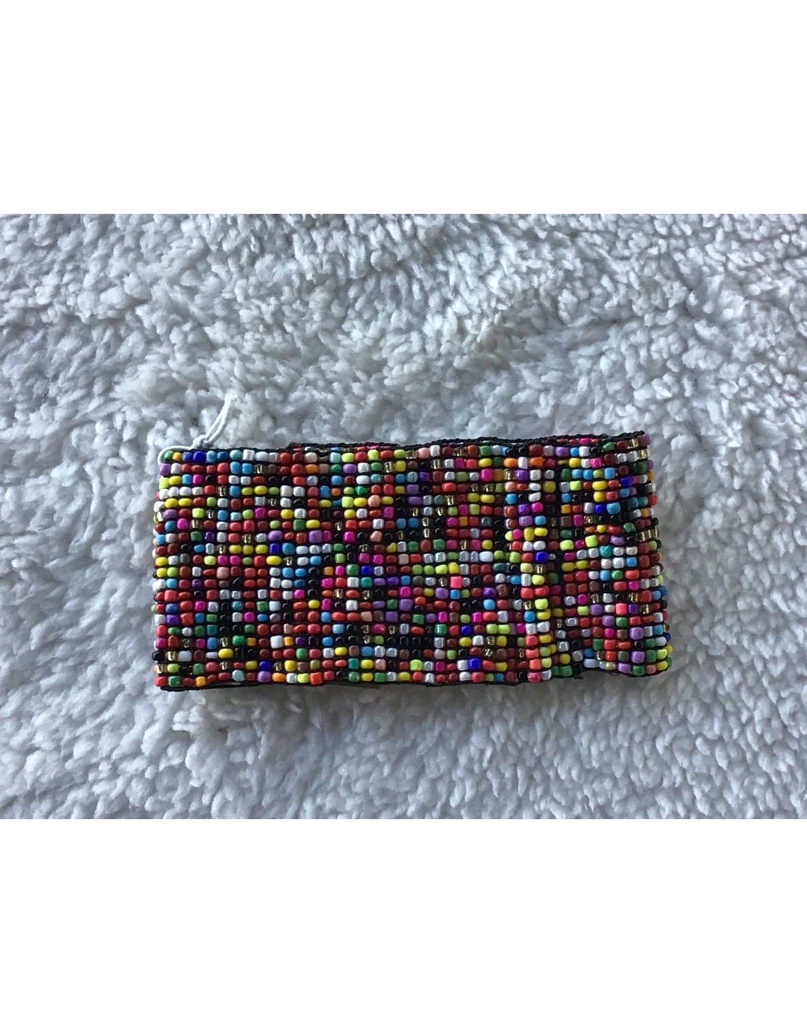 Wide Seed Bead Stretch Braclet