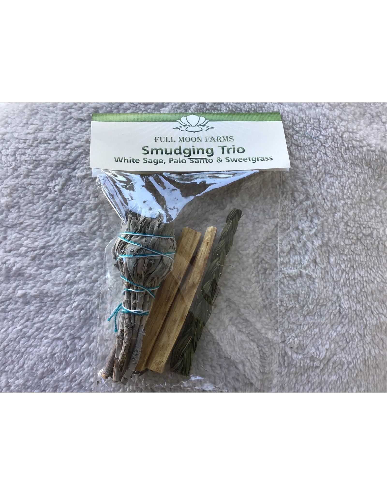 Full Moons Farms Smudging Trio | White Sage, Palo Santo & Sweetgrass
