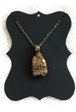 Angel Vaughan Tigers Eye Wire Wrapped Necklace