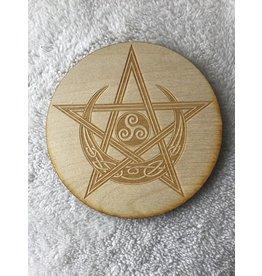 "Zen and Meow Celtic Pentagram Moon Crystal Grid | 6"""