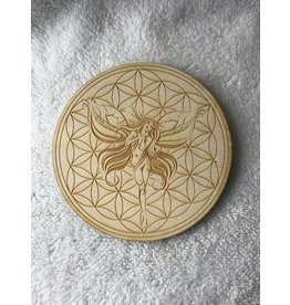 """Zen and Meow Flower of Life Faery/Fairy Crystal Grid 