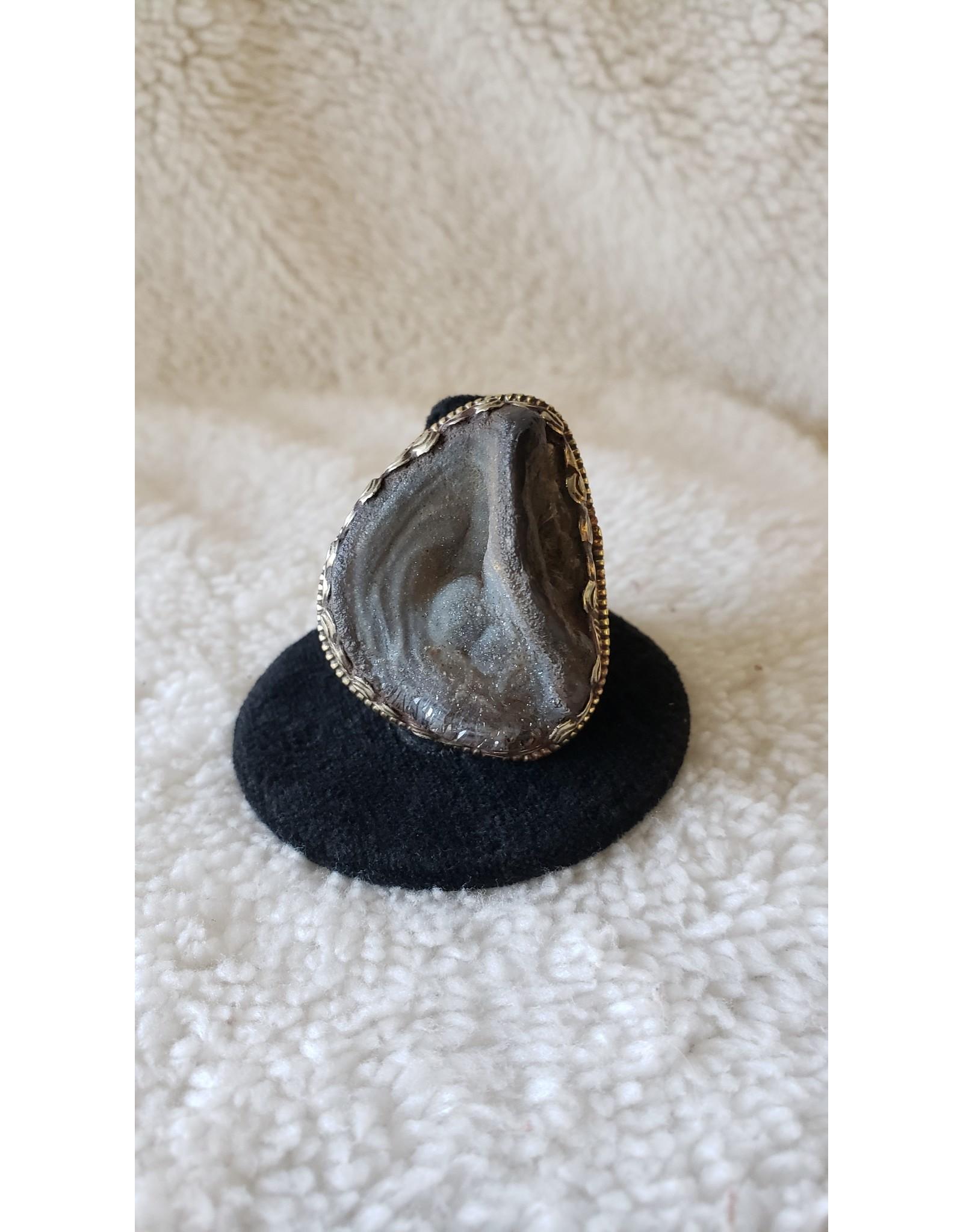 Druzy Agate Ring | Adjustable