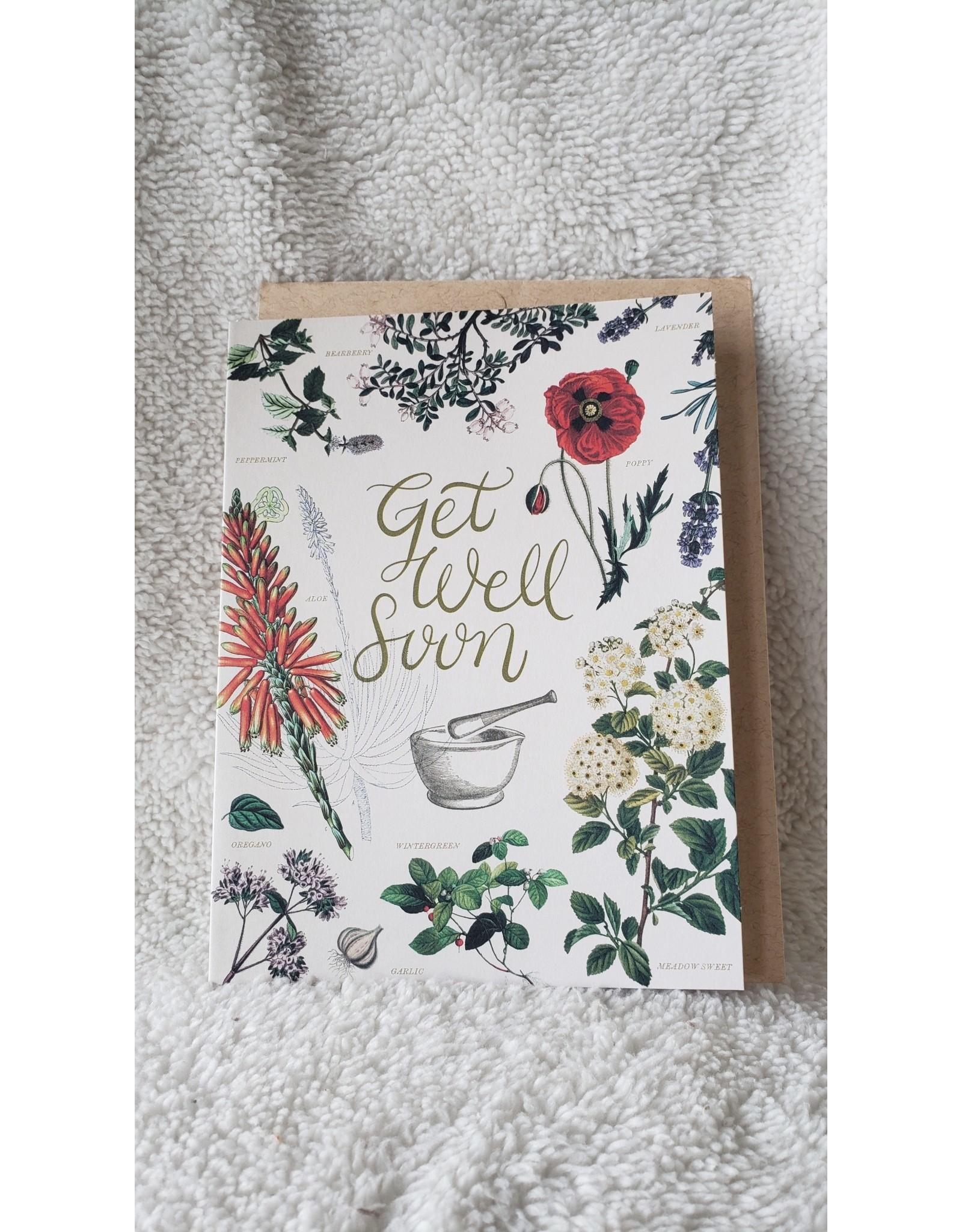 Get Well Soon Medicinal Botany   Card