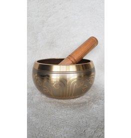 """Gold Tibetan Singing Bowl   Machined   5"""" D"""