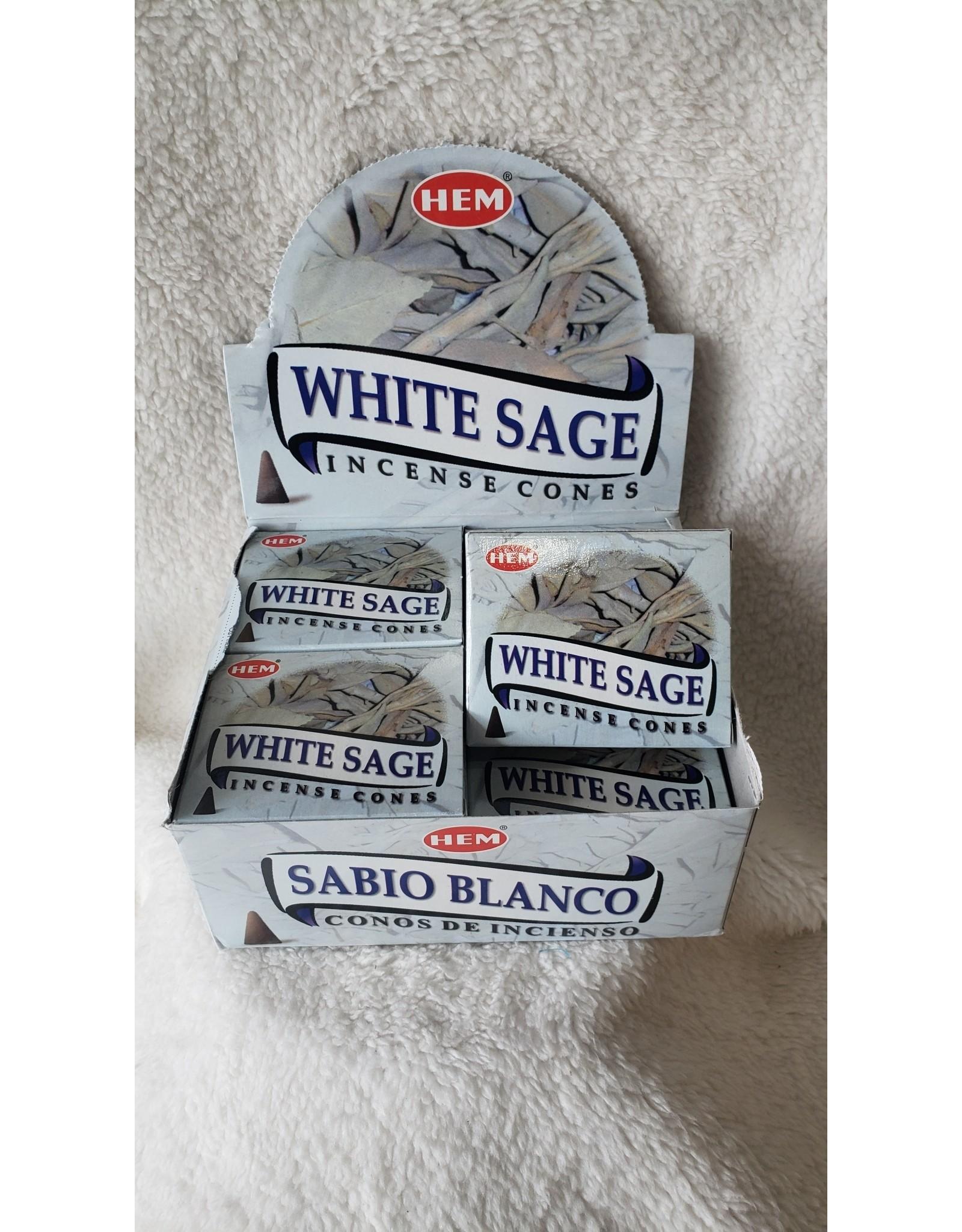 Hem Incense Cones 10 ct.   White Sage