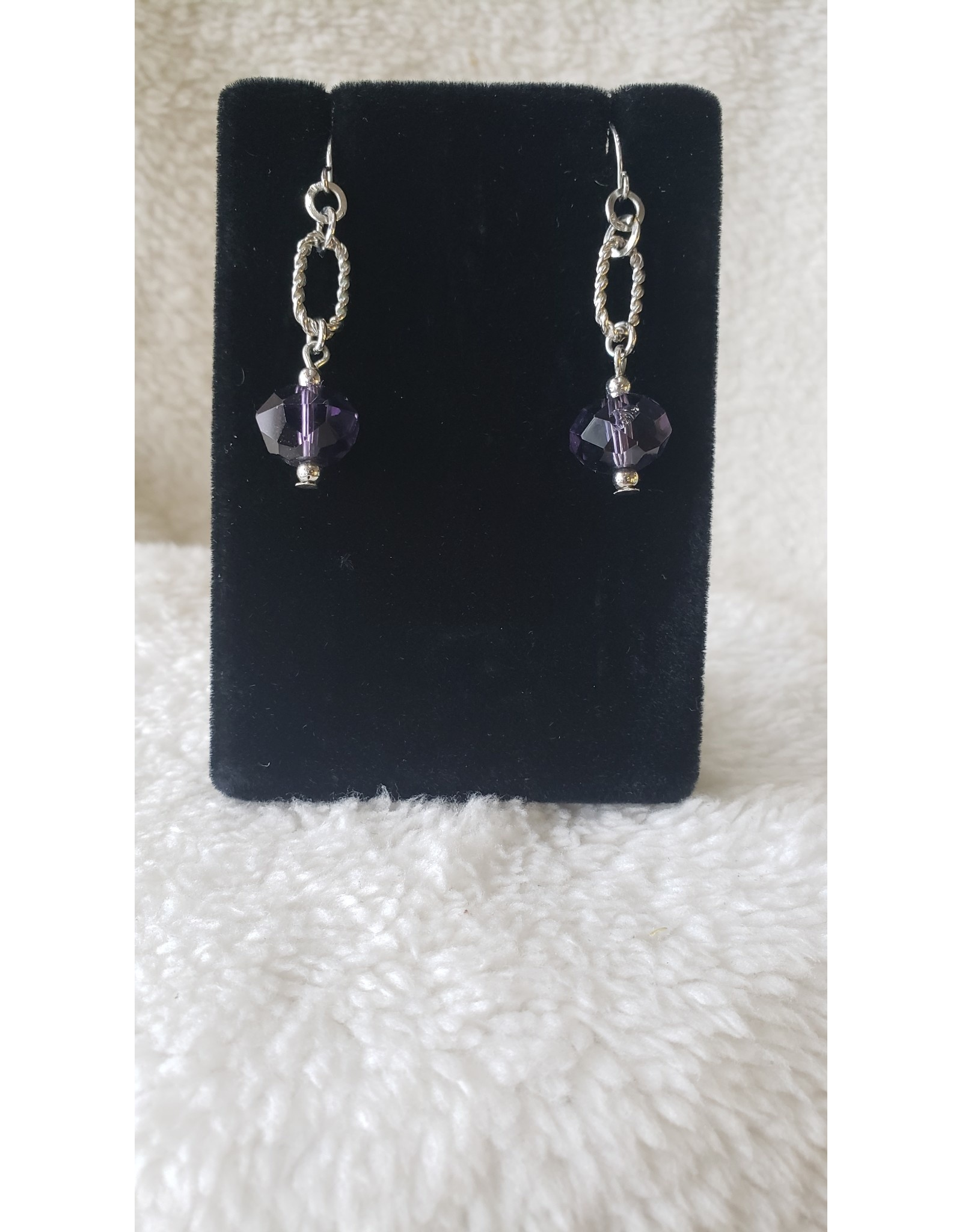 Purple Jewel Dangly Earrings