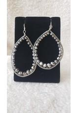 Wire Wrapped Silver Loop Earrings