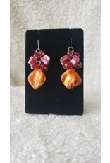 Red & Orange Dangly Earrings