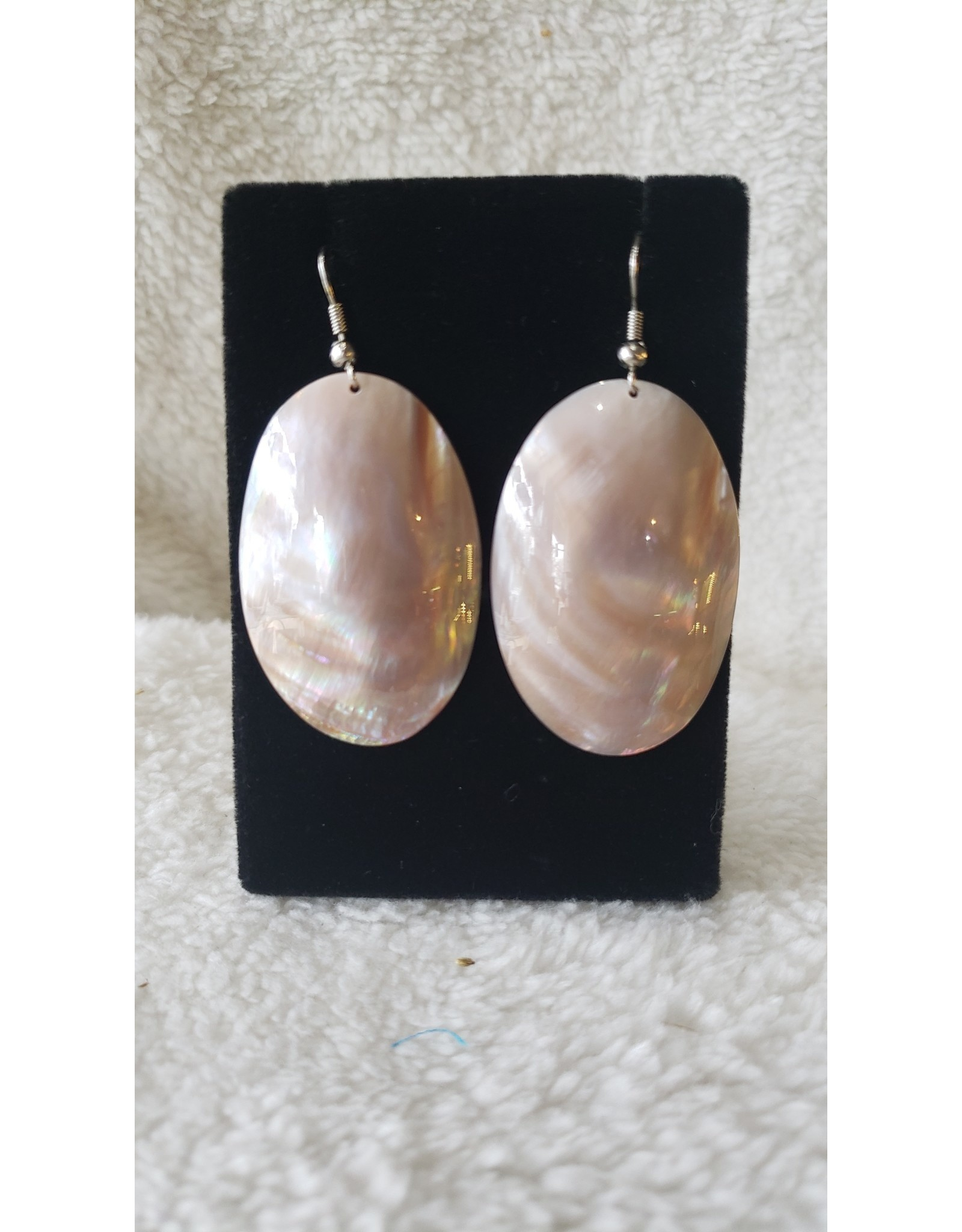Large Oval Shell Earrings