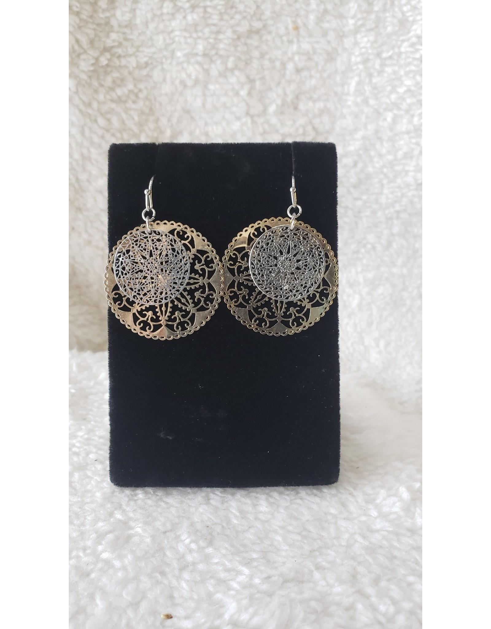 Silver & Gold Cutout Earrings