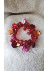 Red & Orange Bead Bracelet