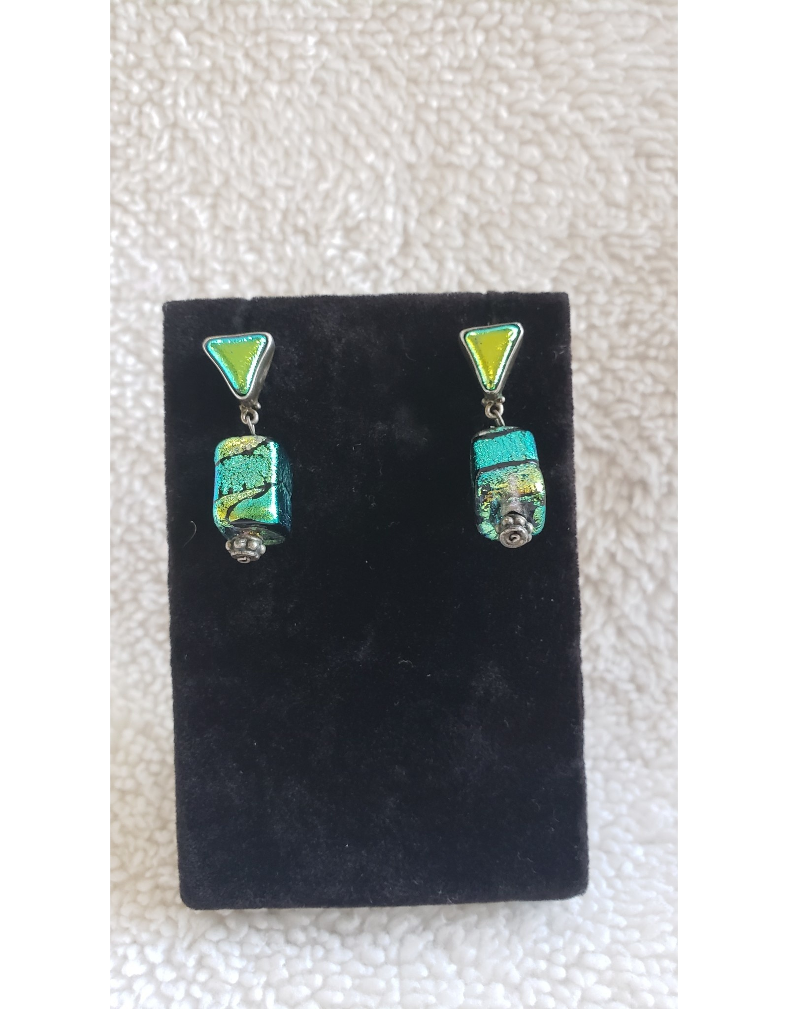 Stretched Vinyl Dangly Earrings