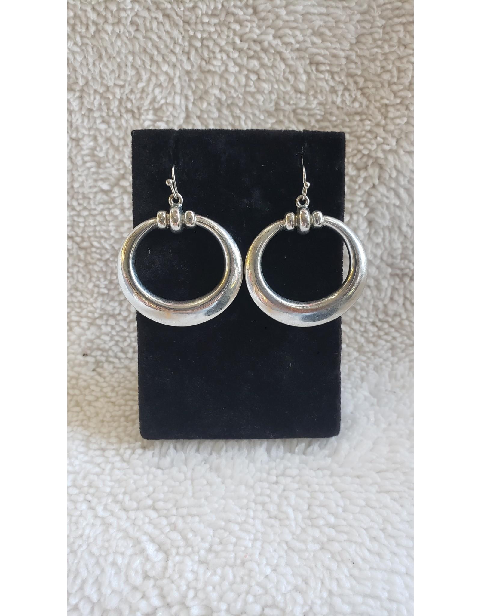 Simple Silver Loop Earrings