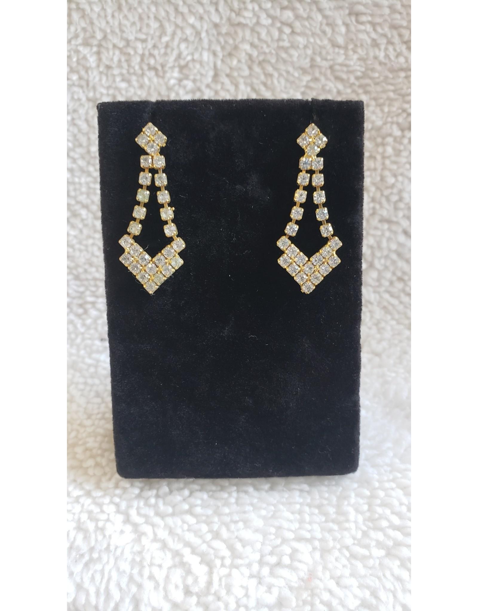 Gold Jewel Dangly Earrings