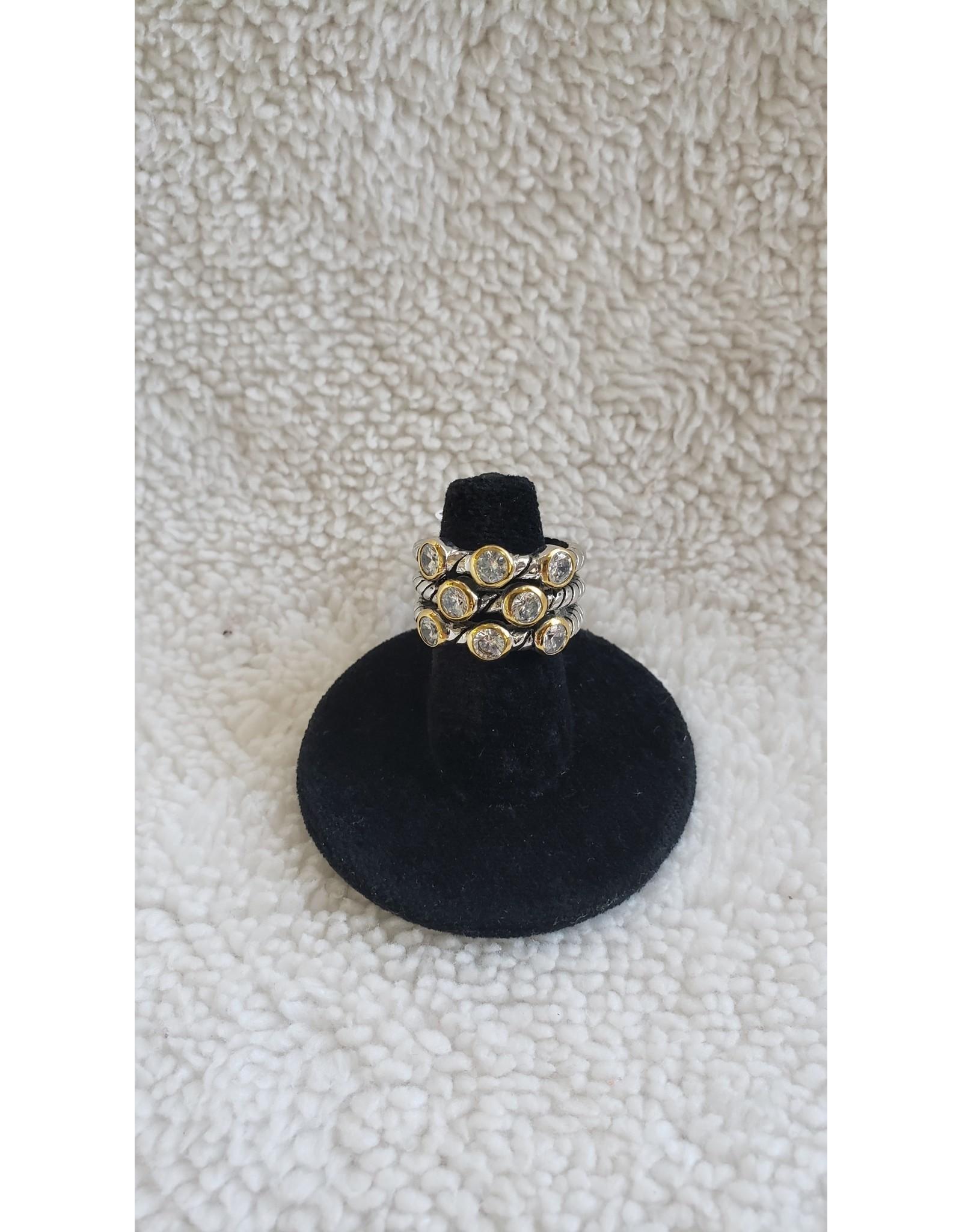 Multi Layered Jewel Ring | Size 6