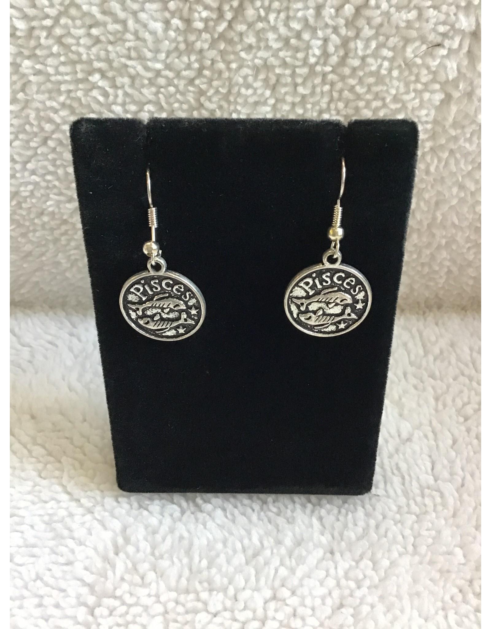 Angel Vaughan Pisces Zodiac Earrings
