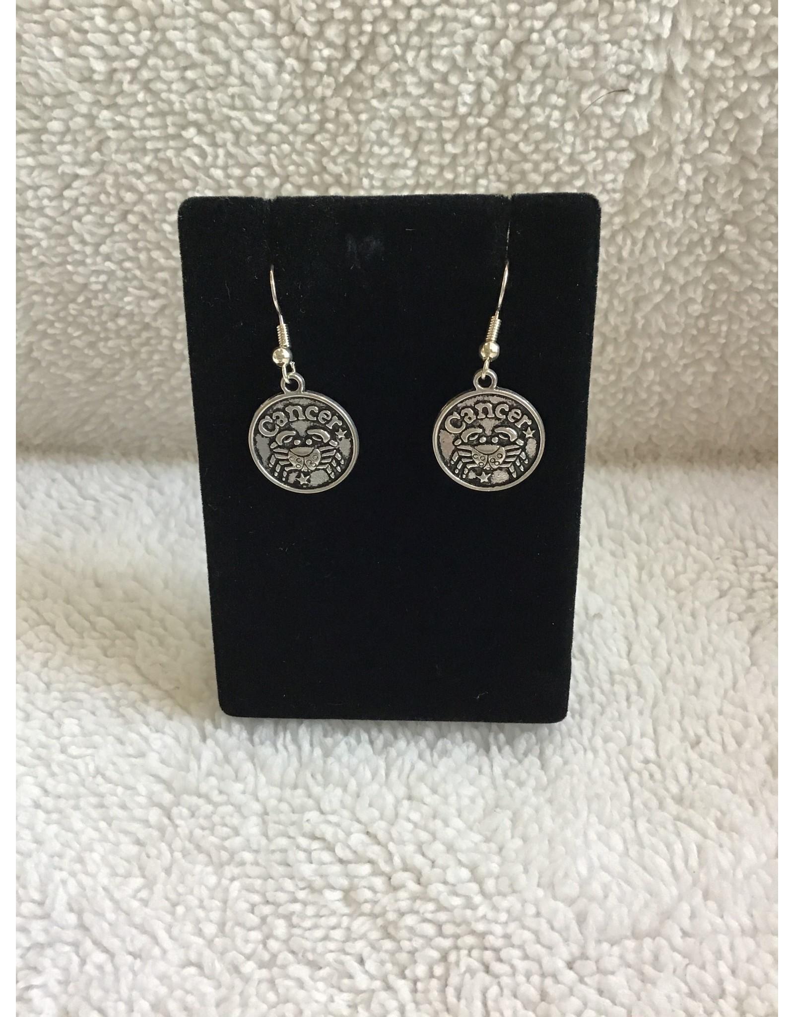 Angel Vaughan Cancer Zodiac Earrings